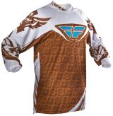 Fly Racing Kinetic Jersey brown/white
