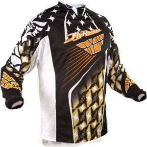 Fly Racing Kinetic Jersey white/gold